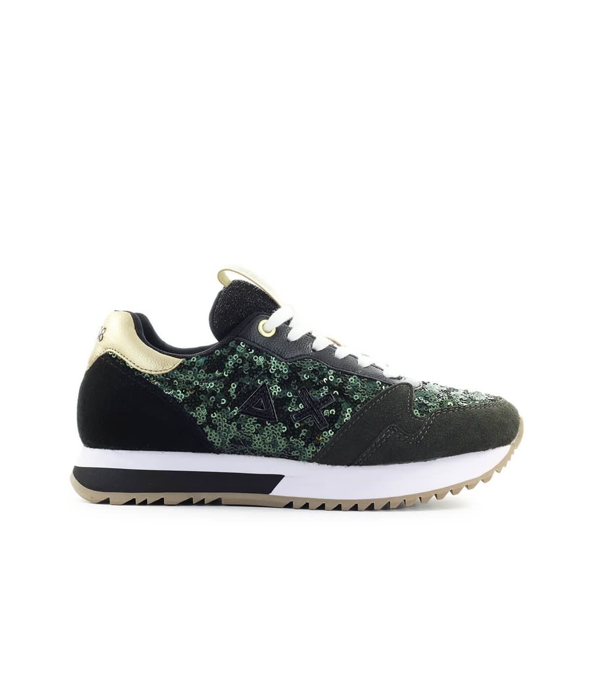 Sun 68 SUN68 KELLY SOLID PAILLETTES MILITARY GREEN SNEAKER