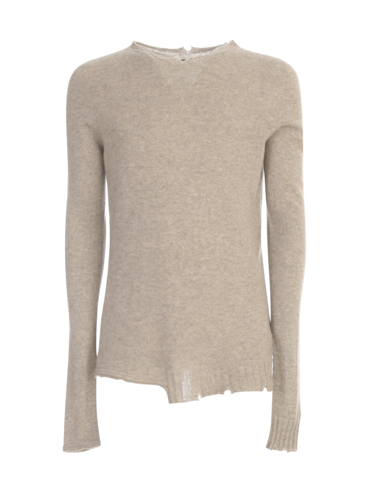 Cashmere Sweater Crew Neck W/microtears