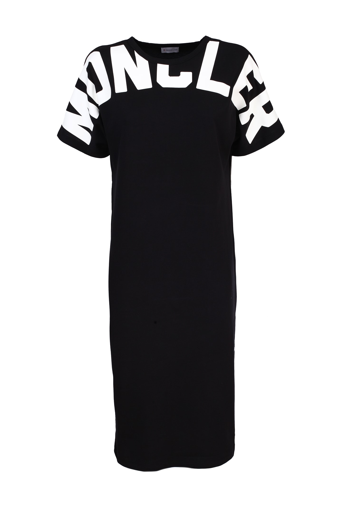 Buy Moncler black cotton dress online, shop Moncler with free shipping