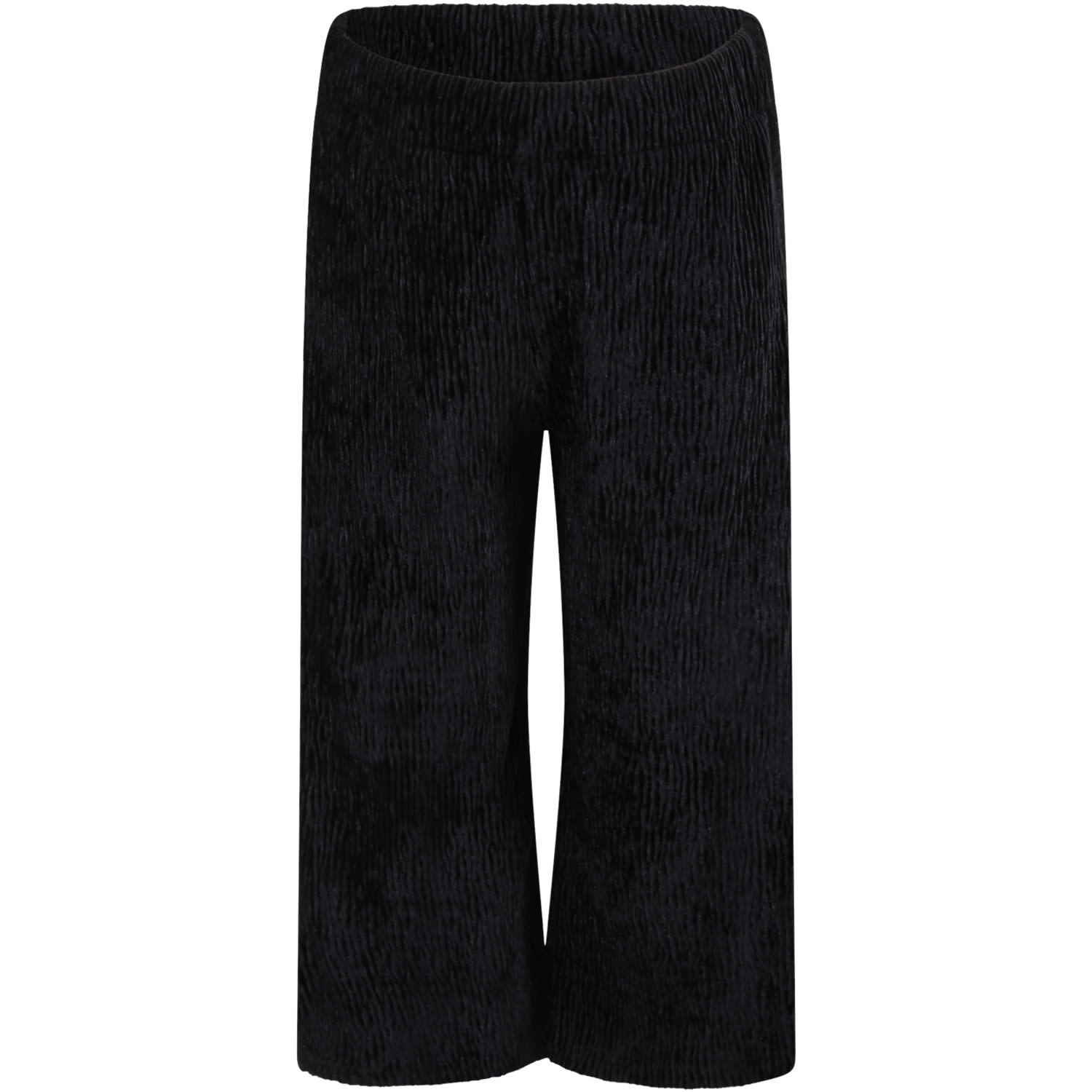 Caffe dOrzo Black dana Trousers For Girl With Lurex Details