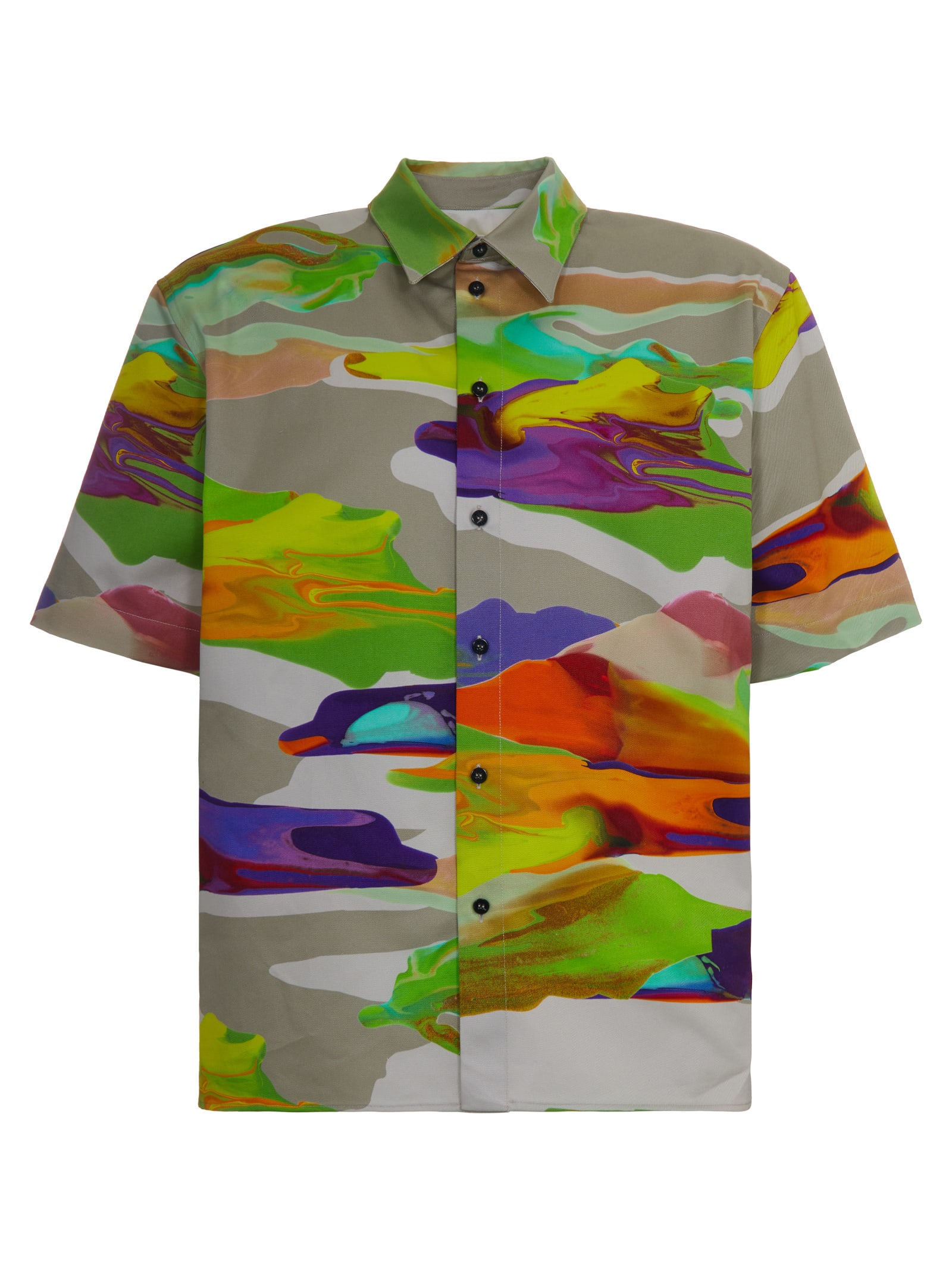 Msgm ABSTRACT SHIRT