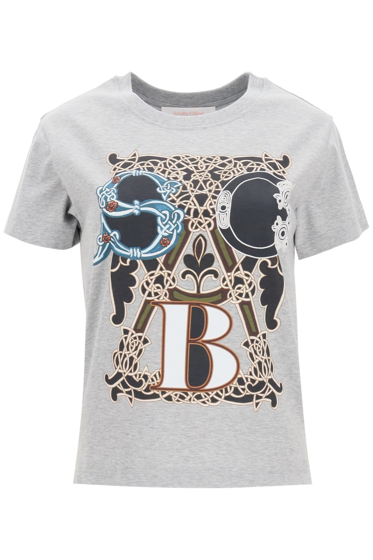 SEE BY CHLOÉ T-SHIRT WITH LOGO PRINT
