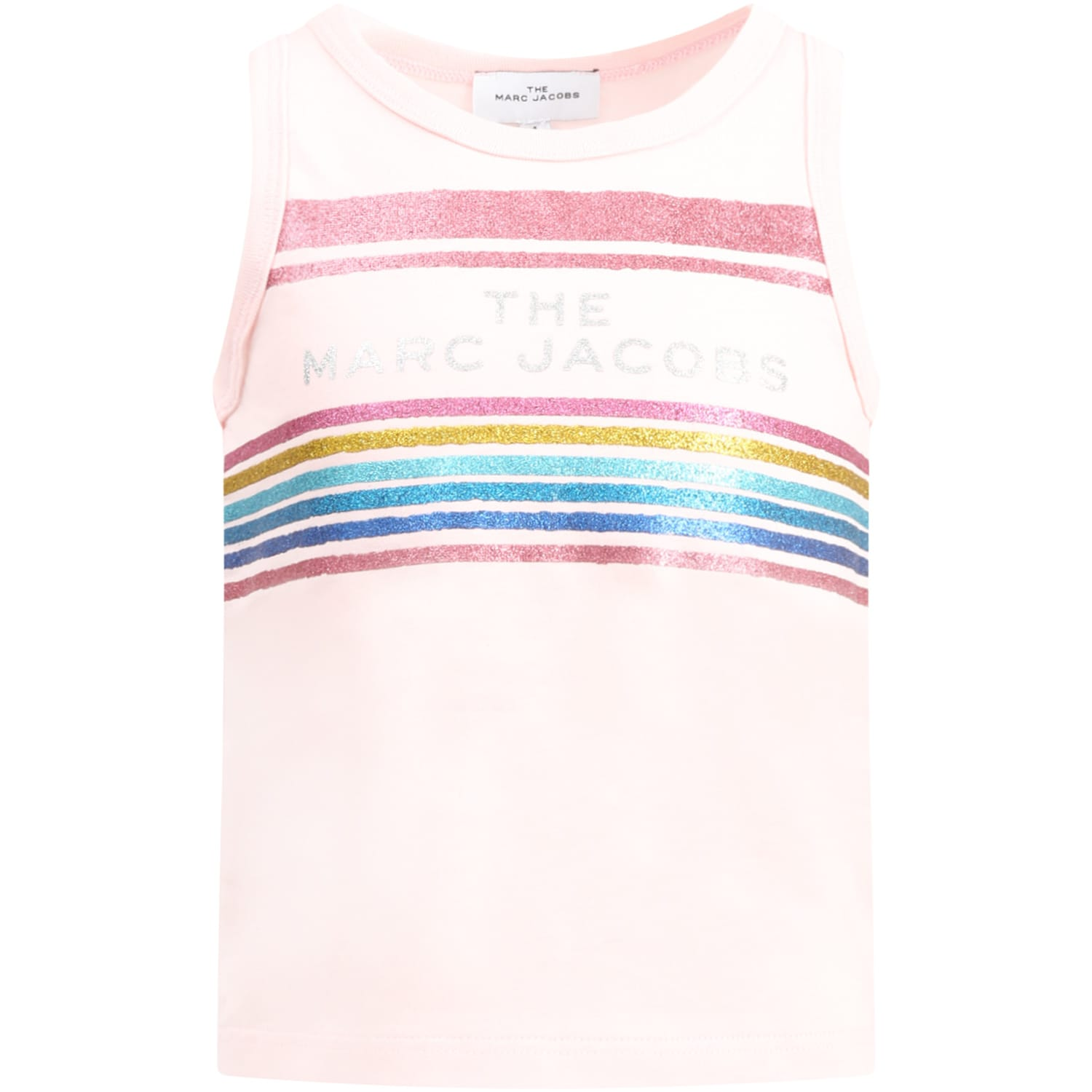 Pink Tank For Girl With Logo