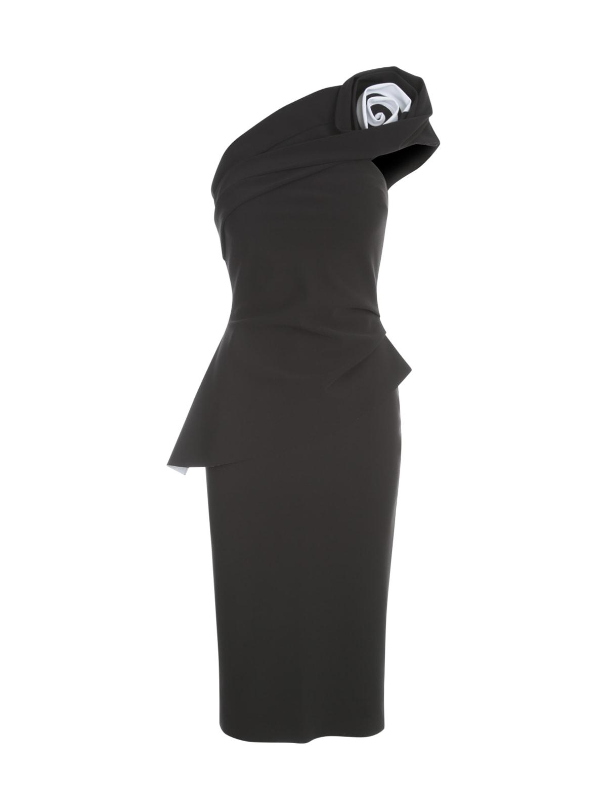Single Shoulder Dress W/flower