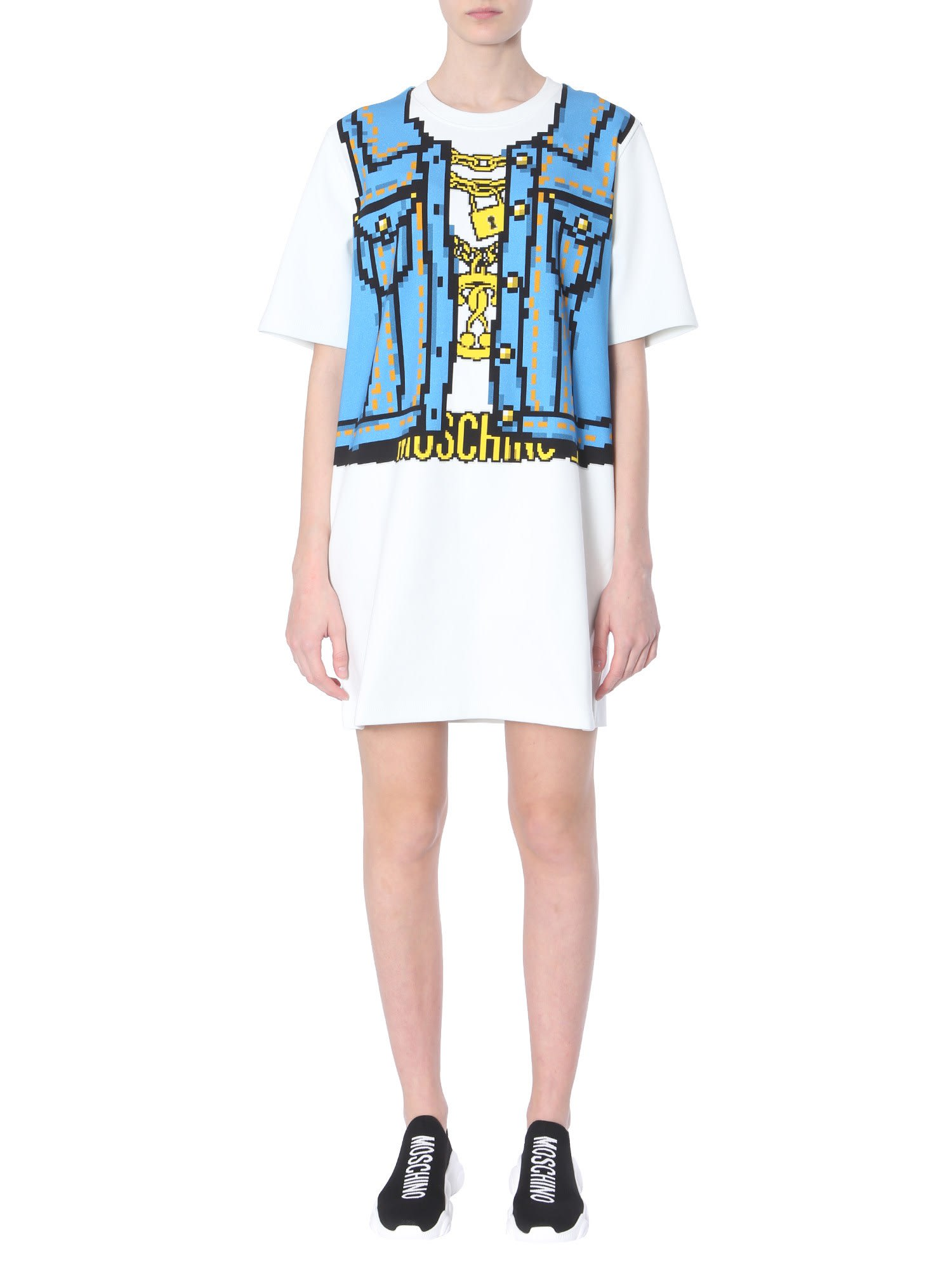 Moschino Cotton Sweatshirt Dress