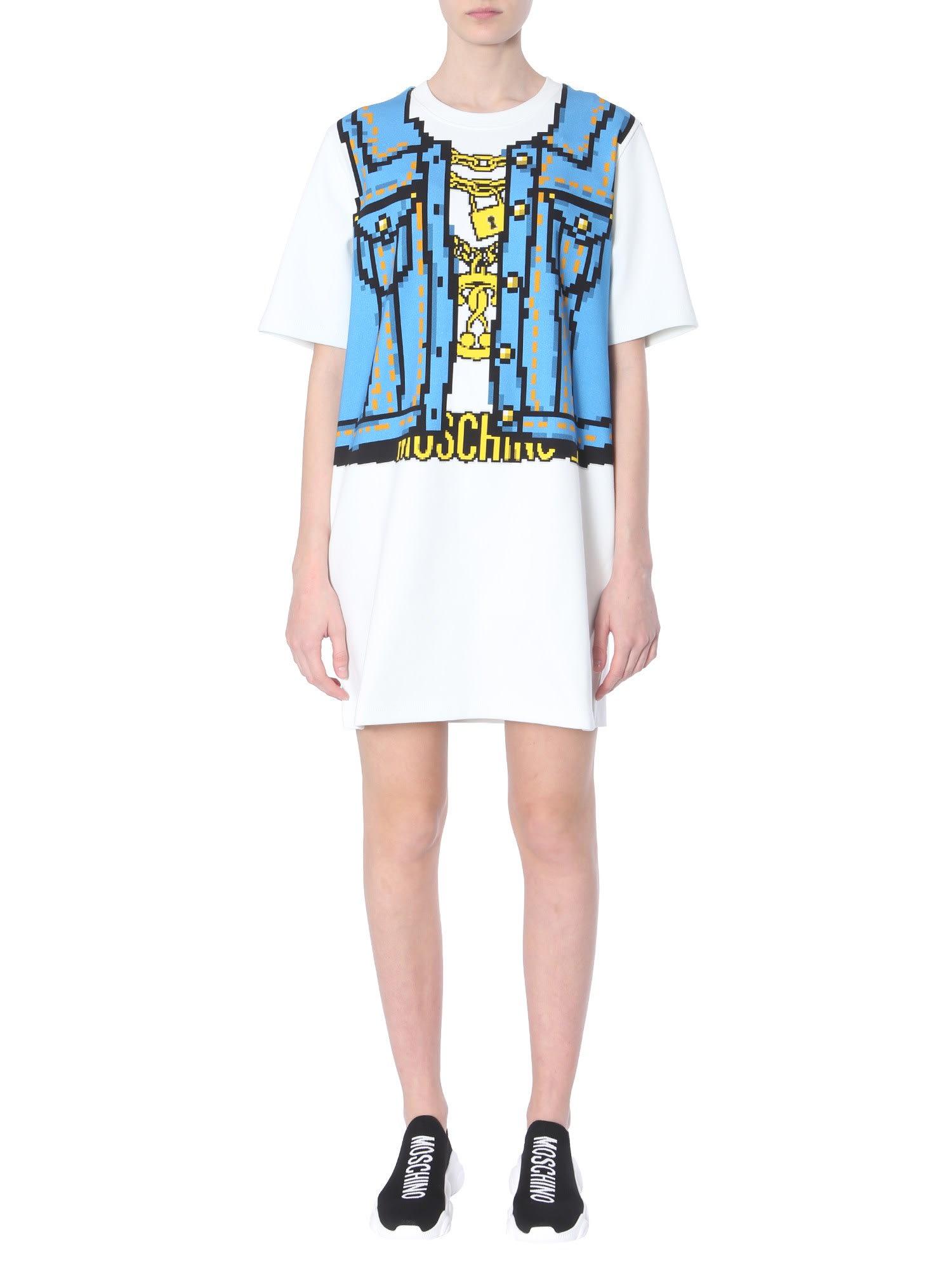 Buy Moschino Cotton Sweatshirt Dress online, shop Moschino with free shipping