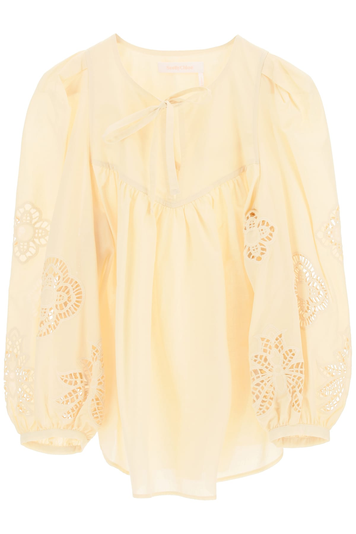 See By Chloé Cottons BLOUSE WITH GUIPURE