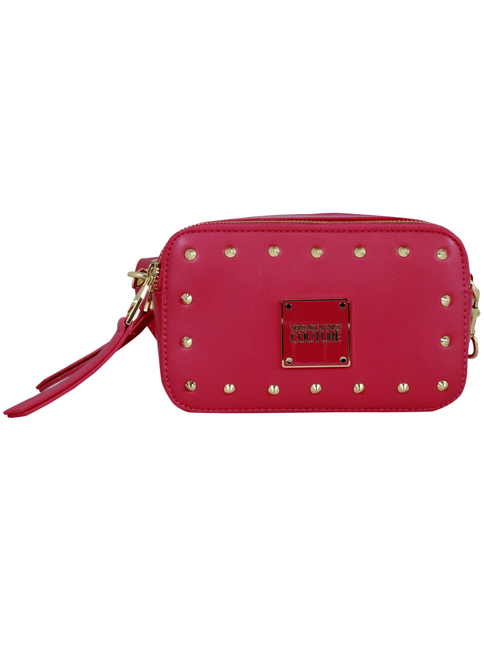 Versace Jeans Couture Nappa Revolution Studs Shoulder Bag