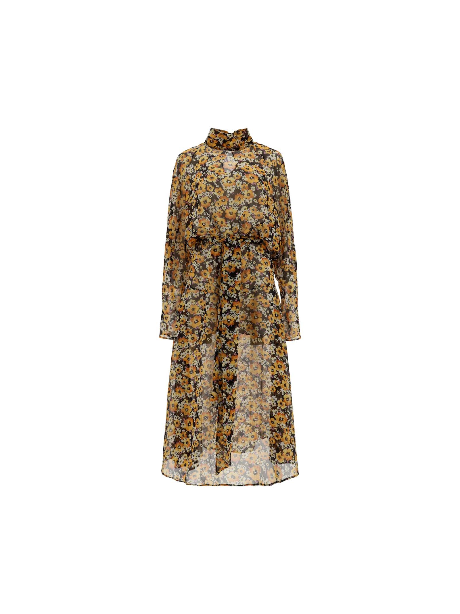 Buy Saint Laurent Georgette Dress online, shop Saint Laurent with free shipping