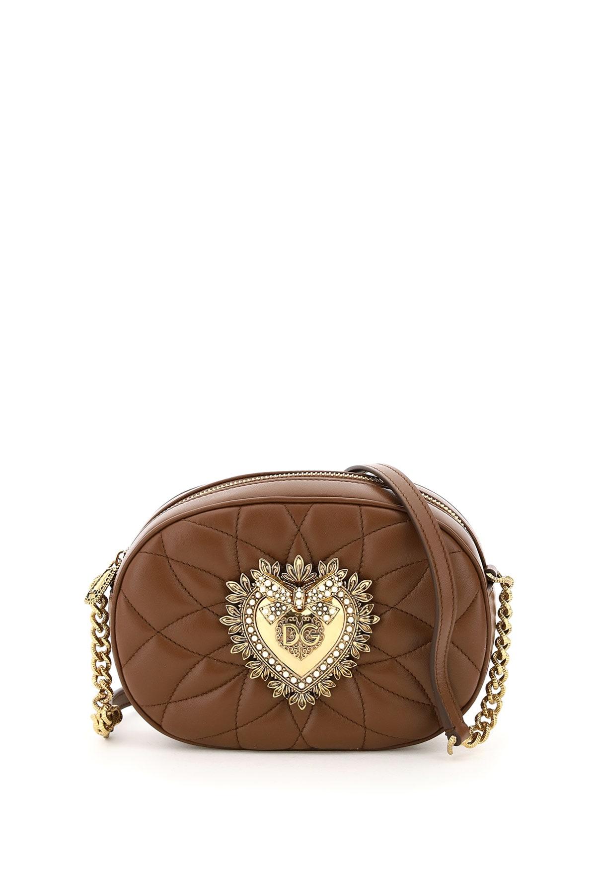 Dolce & Gabbana Leathers DEVOTION OVAL CAMERA BAG