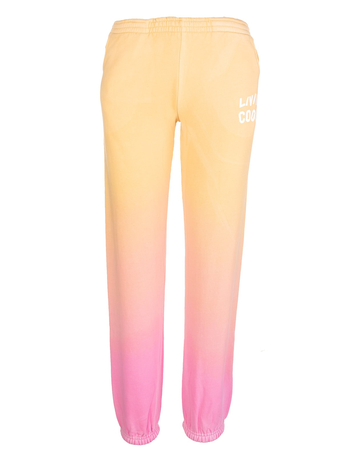 Woman Pink And Orange Gradient Joggers With Logo