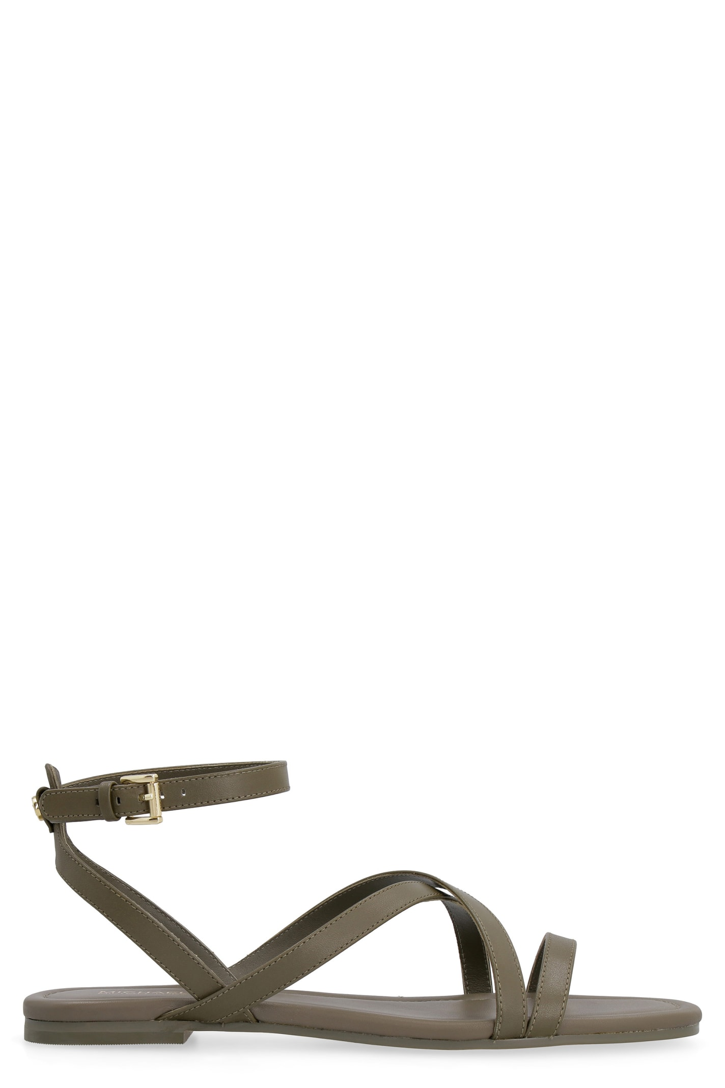 Buy MICHAEL Michael Kors Tasha Leather Sandals online, shop MICHAEL Michael Kors shoes with free shipping
