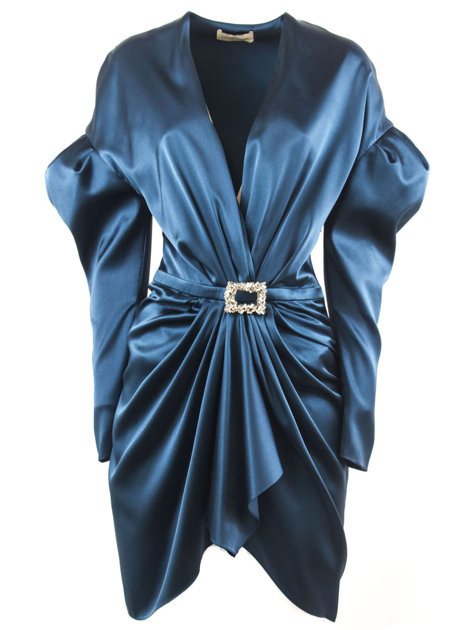 Alexandre Vauthier Cobalt Silk Blend Mini Dress