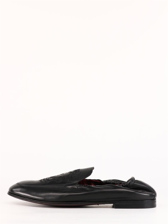 Dolce & Gabbana LEATHER LOAFER BLACK