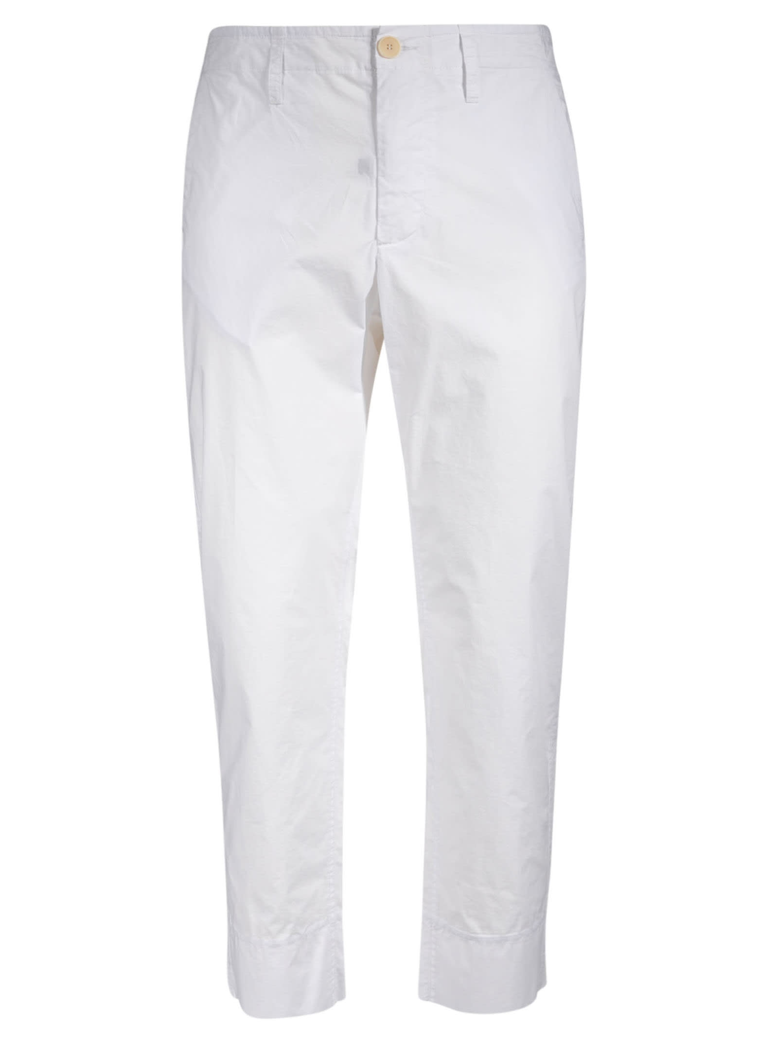 Buttoned Fitted Trousers