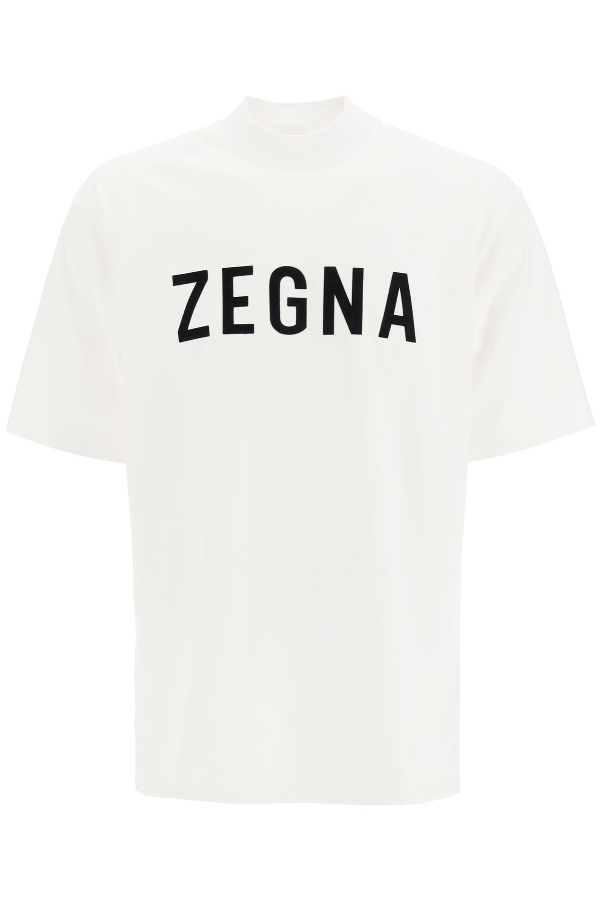 Fearofgodzegna ZEGNA X FEAR OF GOD T-SHIRT FLOCKED LOGO