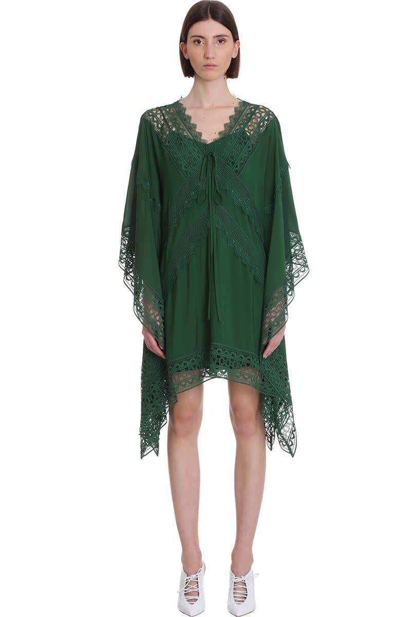 self-portrait Dress In Green Viscose