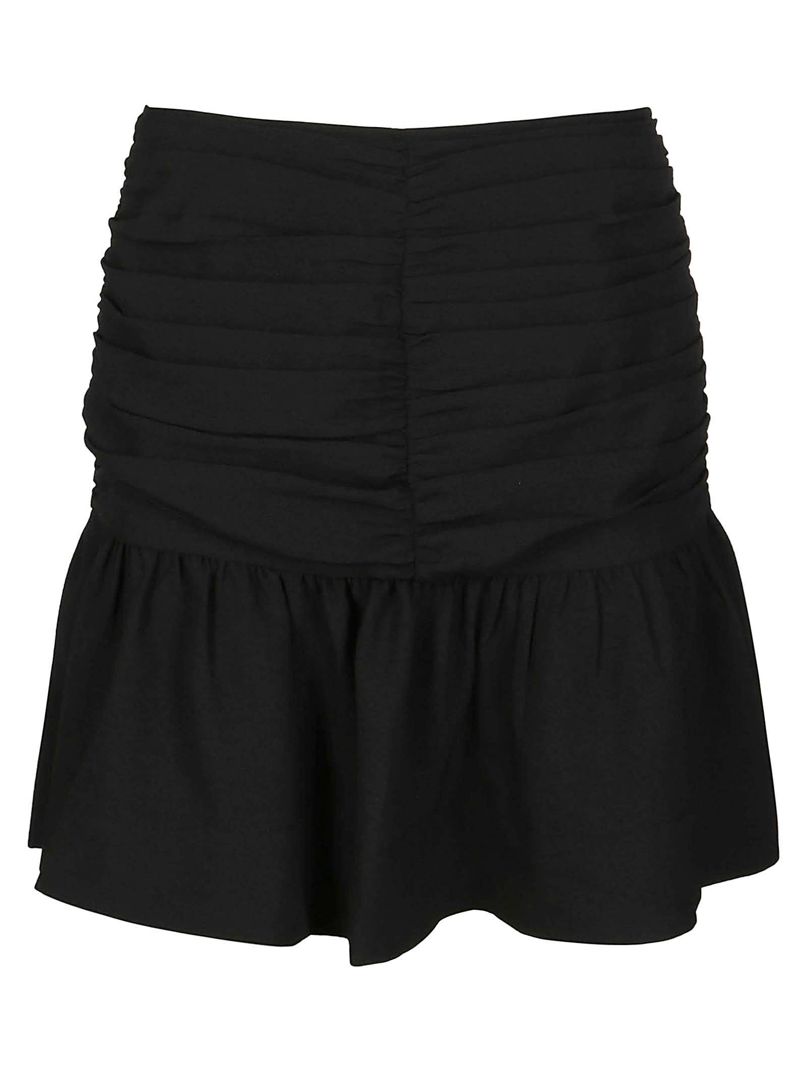 Ganni Mini skirts BLACK MINI SKIRT