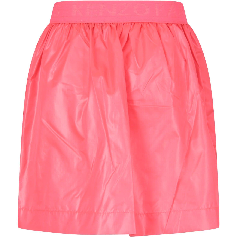 Neon Pink Girl Skirt