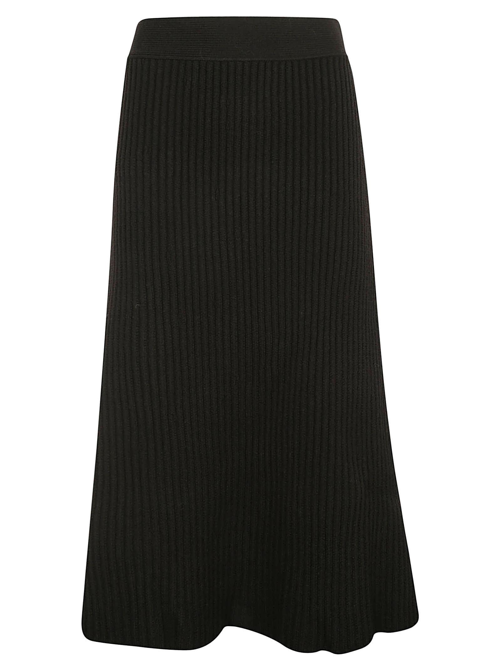 Bottega Veneta Woven Flared Skirt