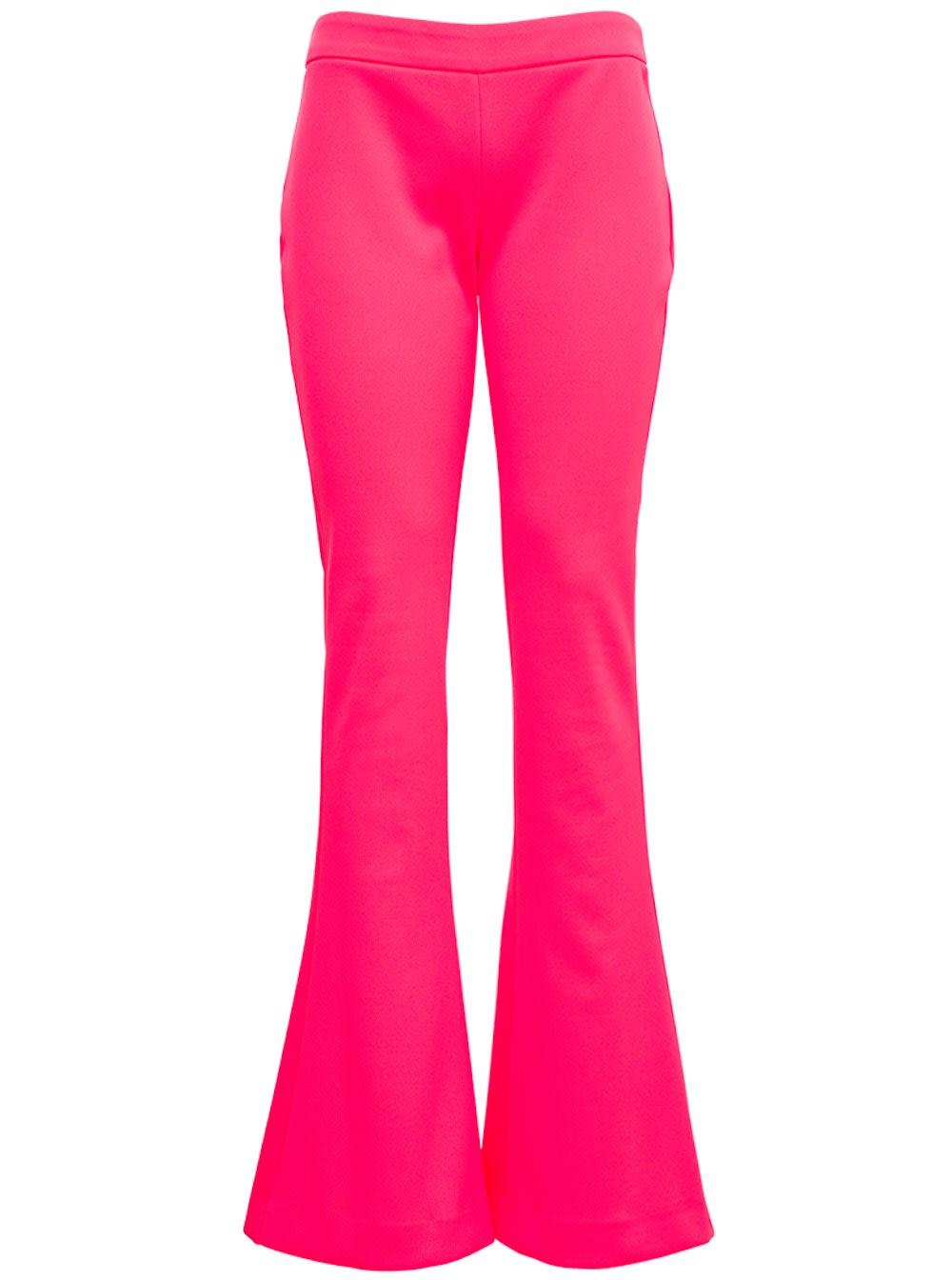 Balmain FLUO PINK FLARED PANTS
