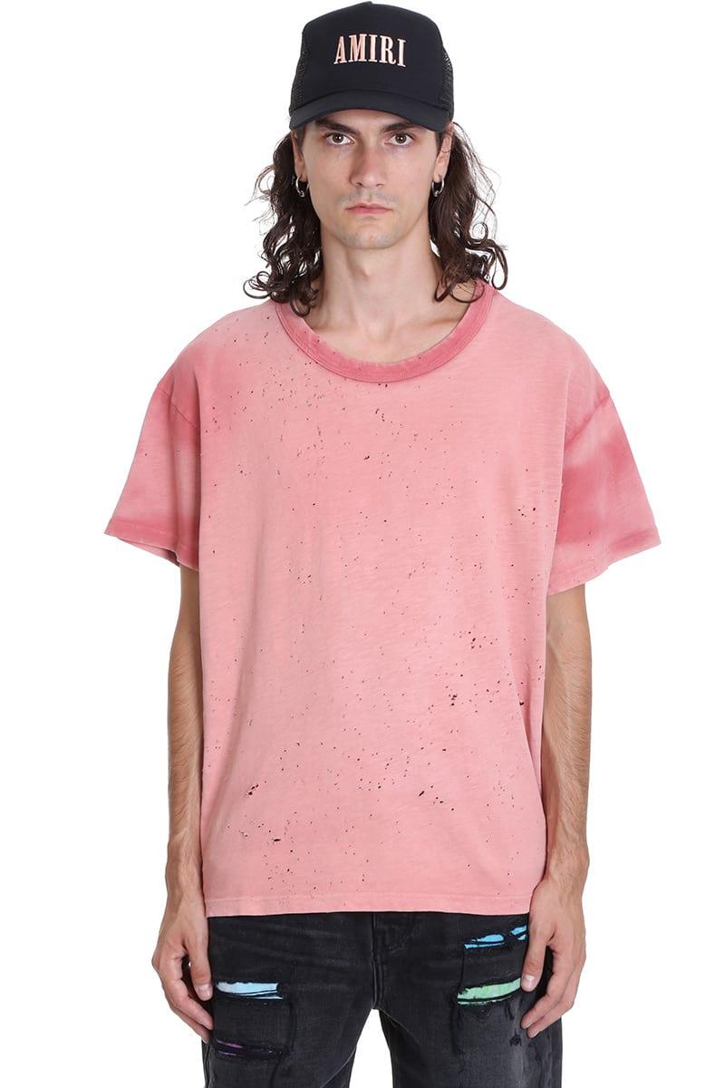 AMIRI Washed Shotgun T-shirt In Rose-pink Cotton