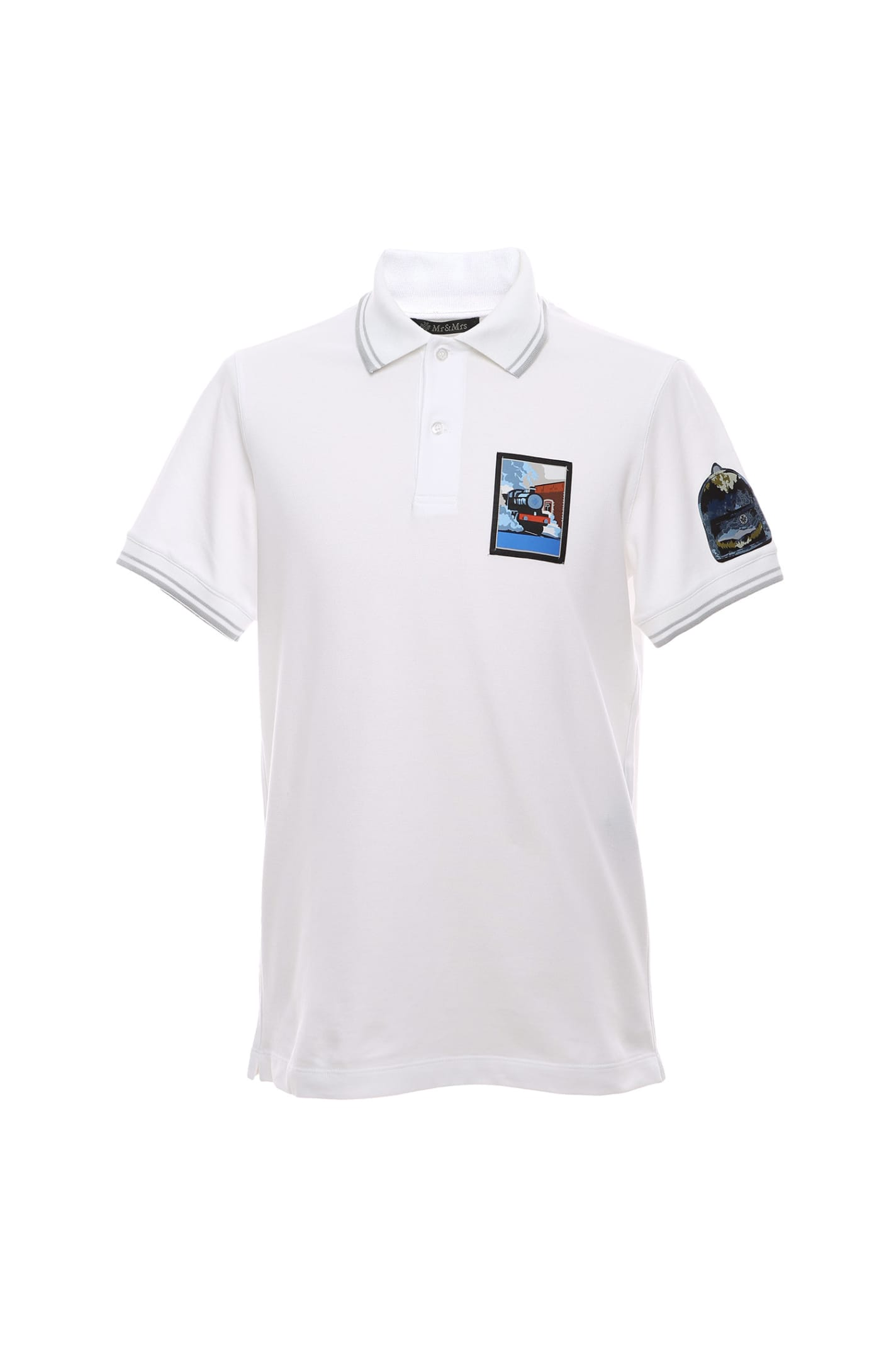 Regular Polo Shirt With Embroidered Patches