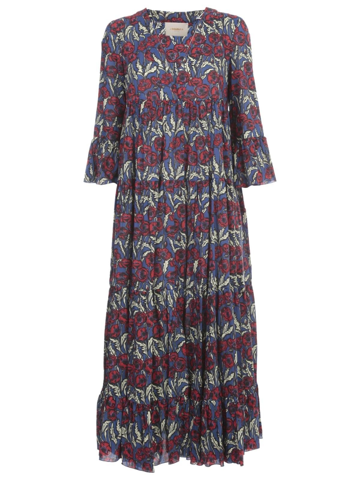 Buy La DoubleJ Jennifer Jane Maxi Dress 3/4s V Neck Blooms Fantasy W/fluonce online, shop La DoubleJ with free shipping