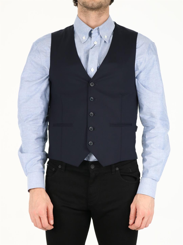 Tonello Wools BLUE WOOL VEST