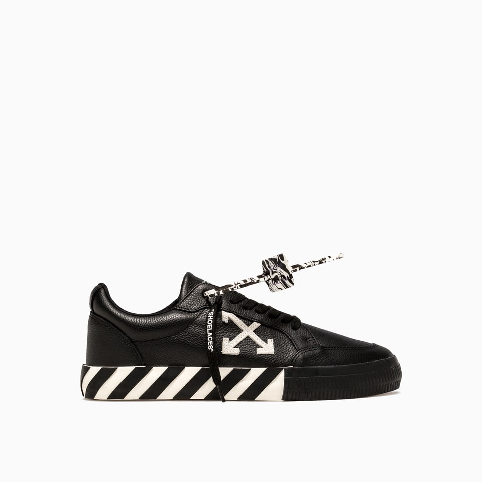Off-white Low Vulcanized Leather Sneakers Omia085e20lea001