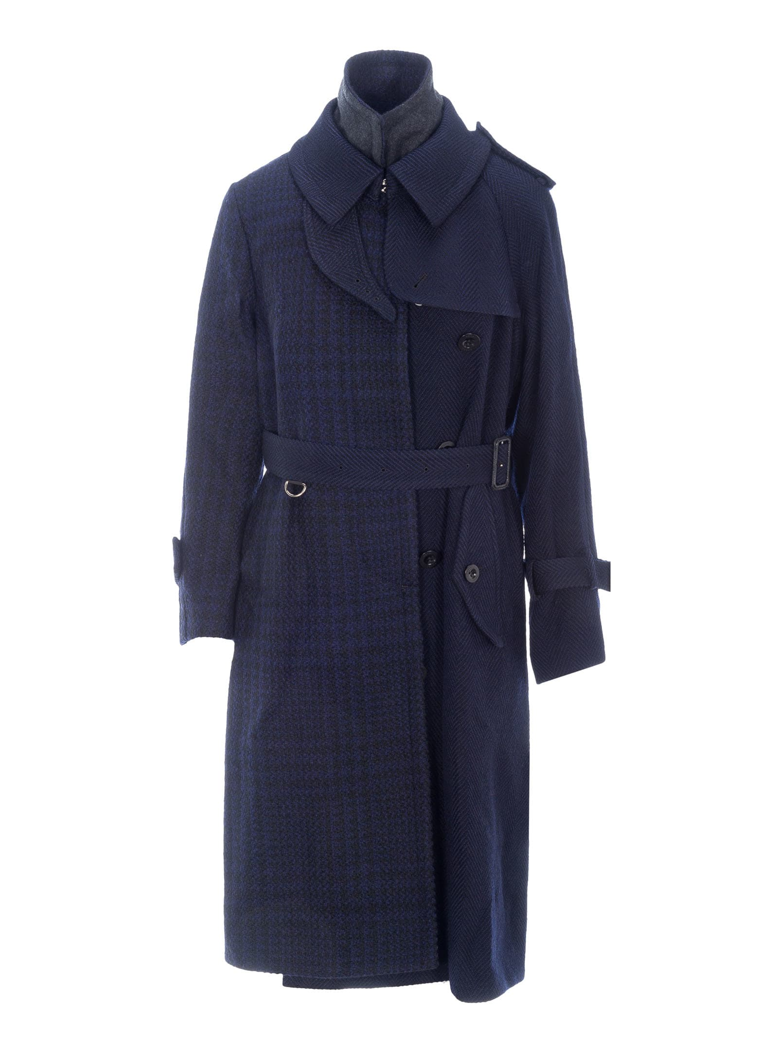 Sacai Asymmetrc Trench Coat
