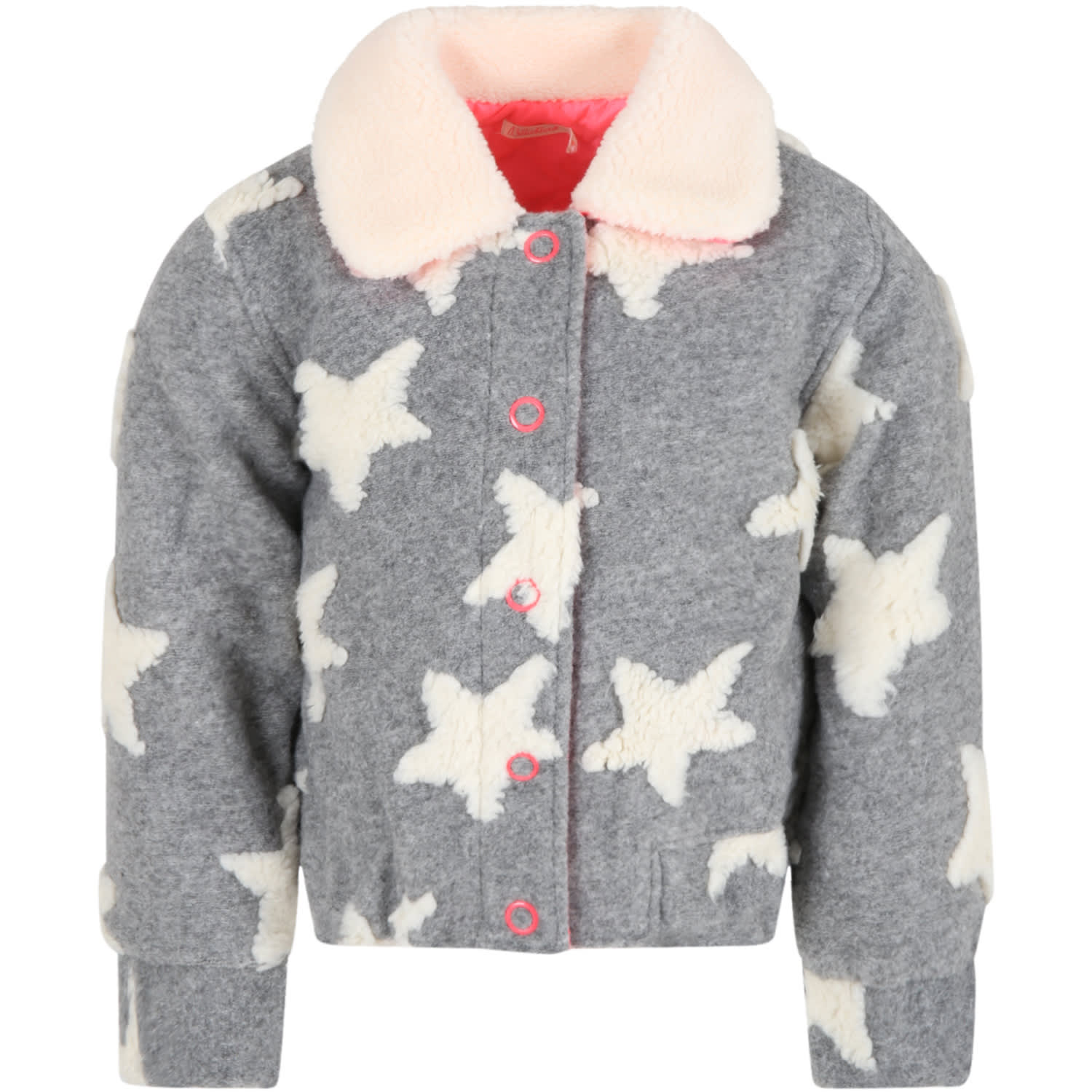 Grey Jacket For Girl With Stars