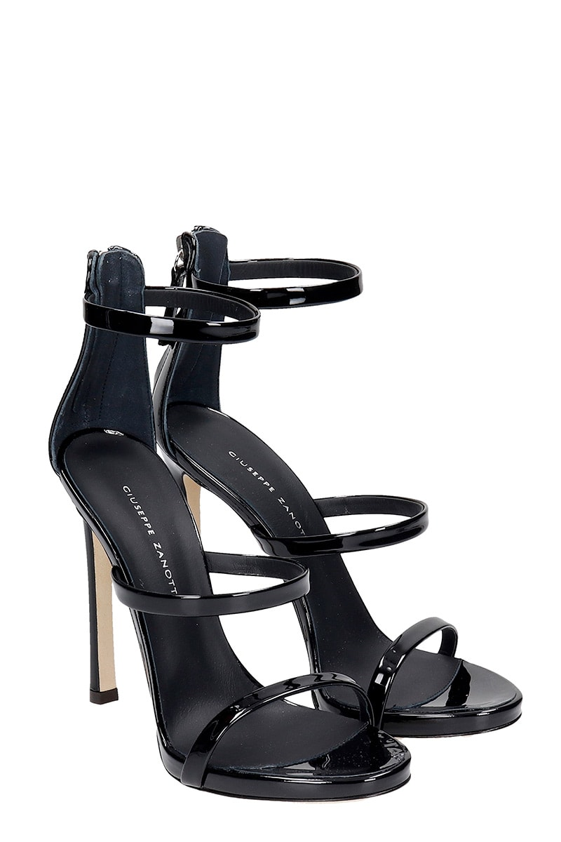 Particular Giuseppe Zanotti Harmony Sandals In Black Patent Leather - Great Deals