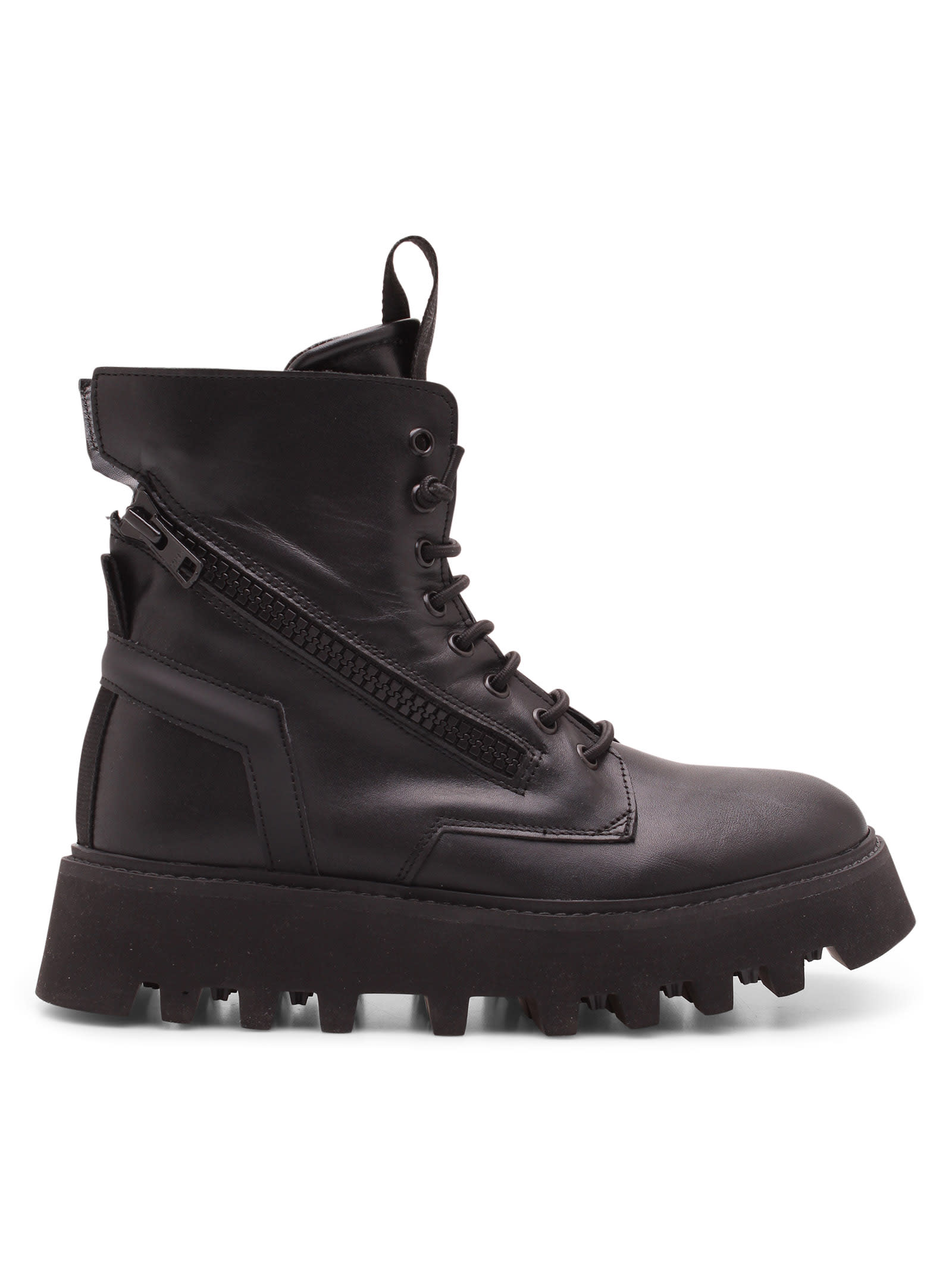 pray Leather Ankle Boots