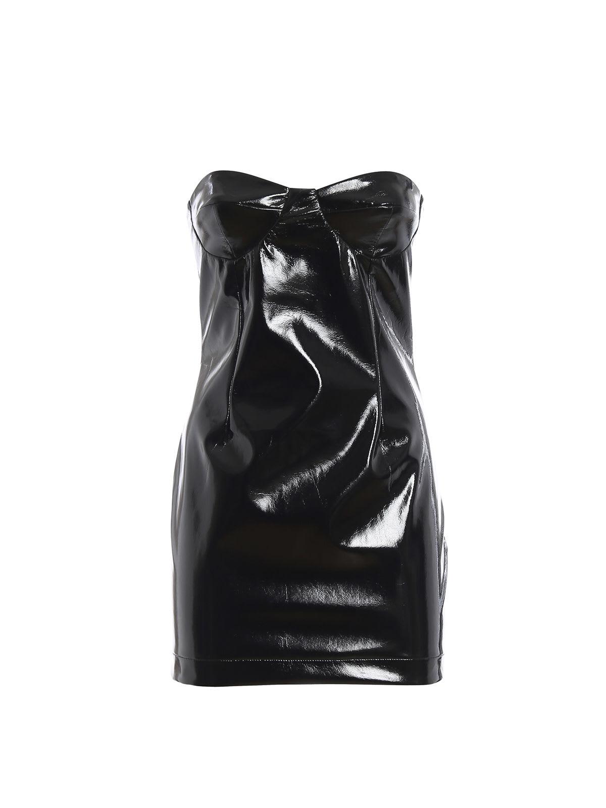 GCDS Latex Bustier Dress