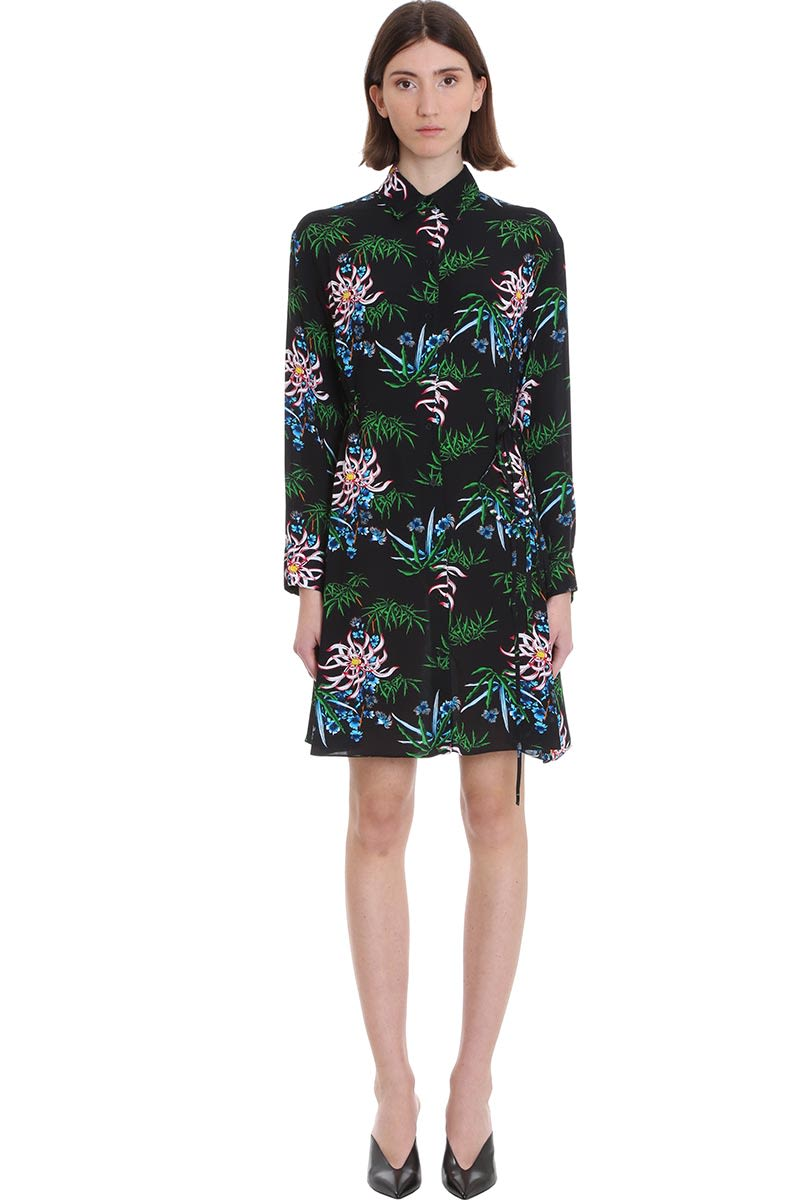 Buy Kenzo Dress In Black Viscose online, shop Kenzo with free shipping
