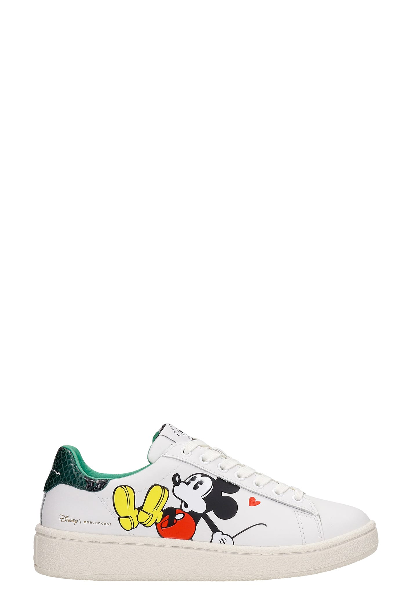 Moa Master Of Arts Leathers SNEAKERS IN WHITE LEATHER