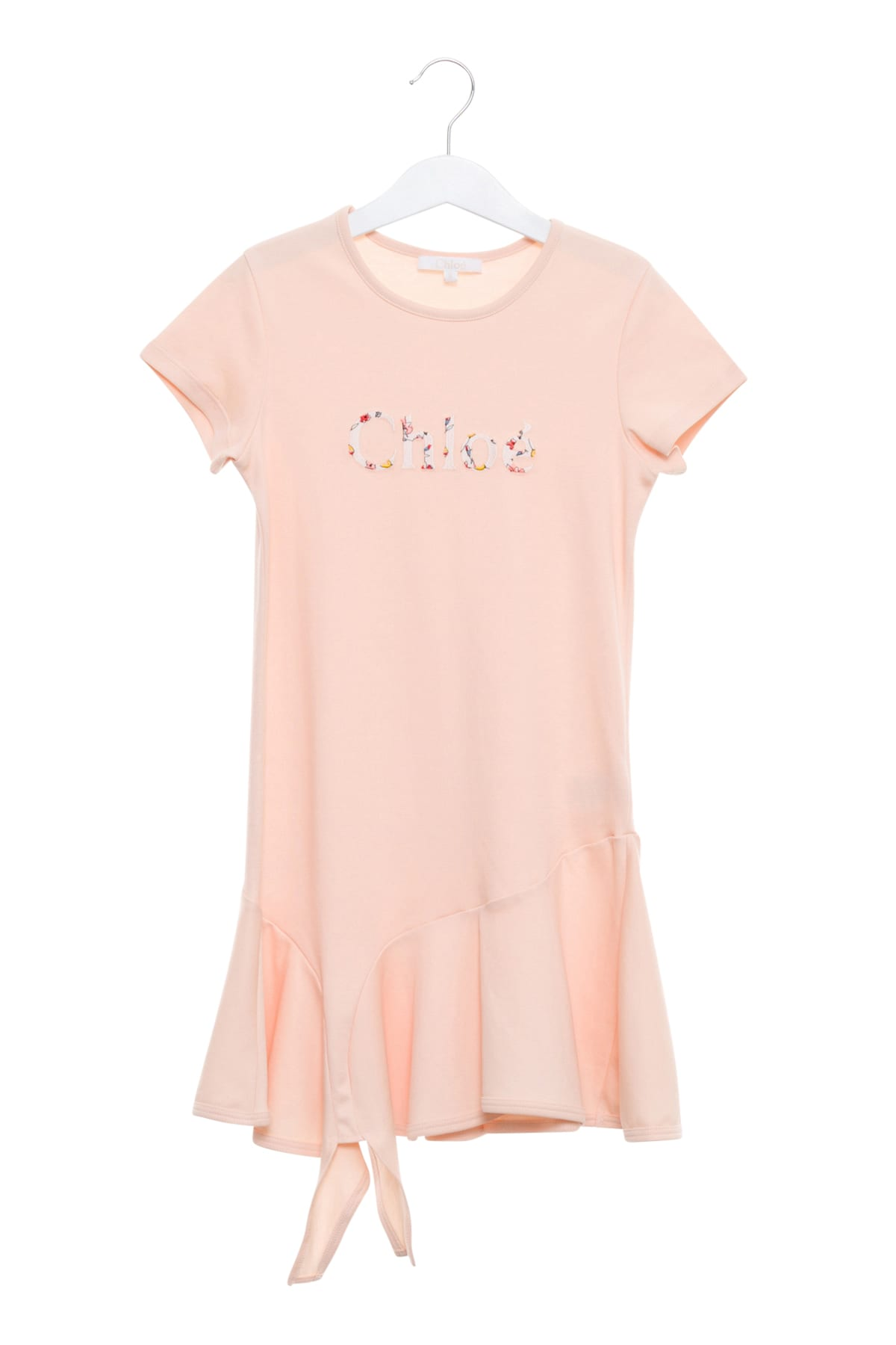 Chloé Embroidered Dress With Ruffled Sleeve