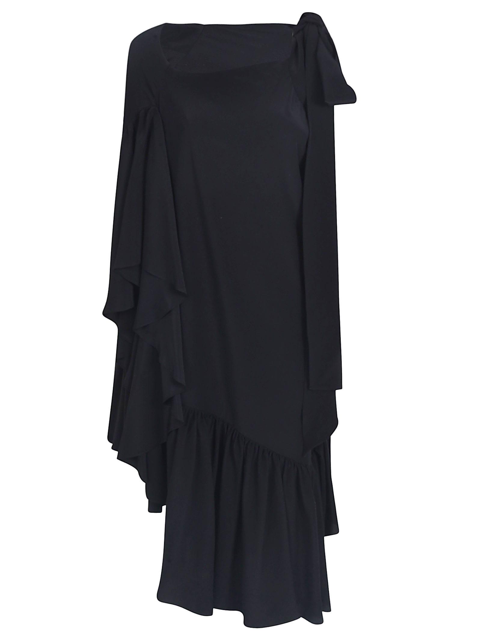 Buy Rochas Asymmetric Ruffled Dress online, shop Rochas with free shipping