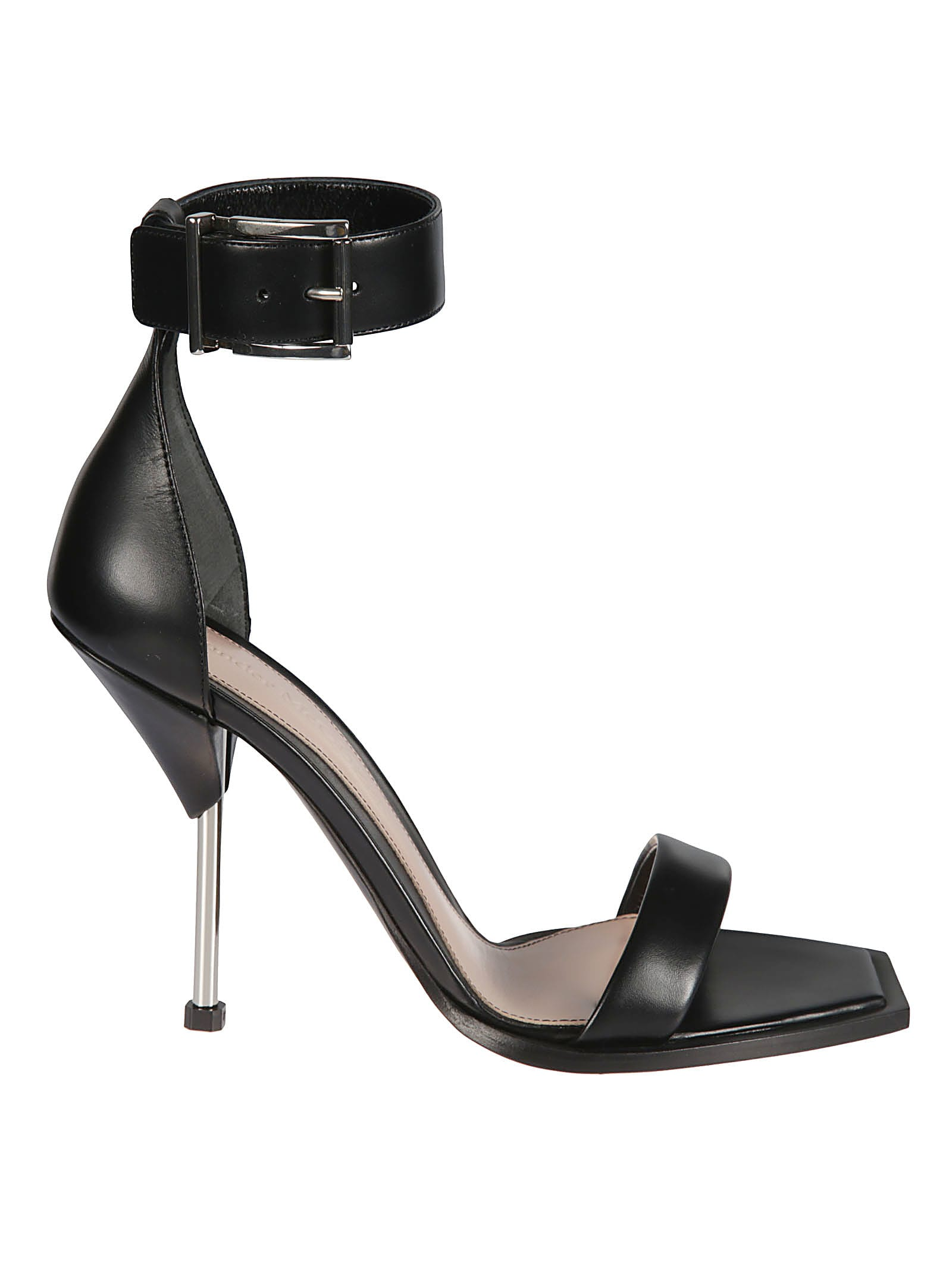 Buy Alexander McQueen Buckled Ankle Strap Sandals online, shop Alexander McQueen shoes with free shipping