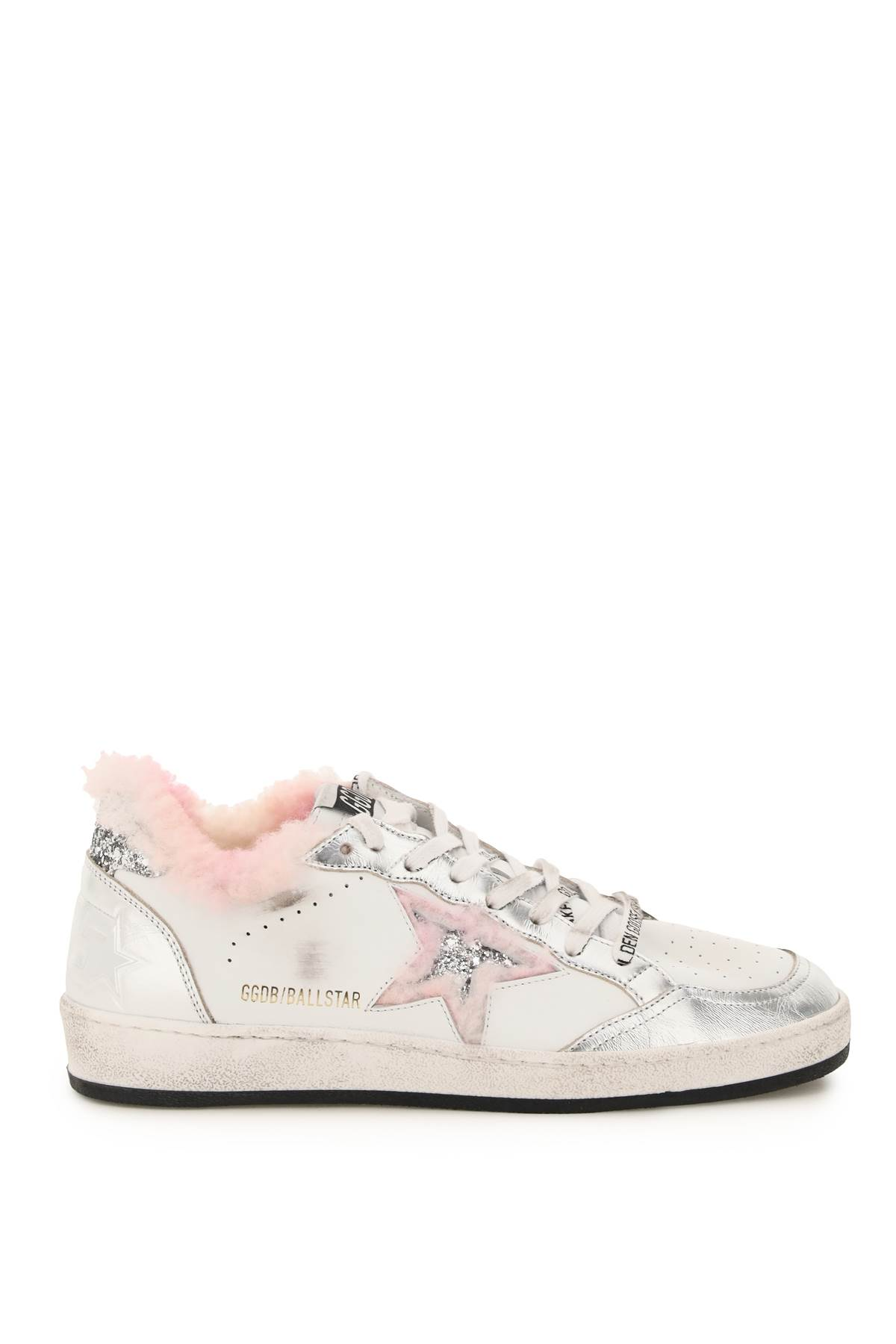 Golden Goose Ball Star Sneakers With Shearling