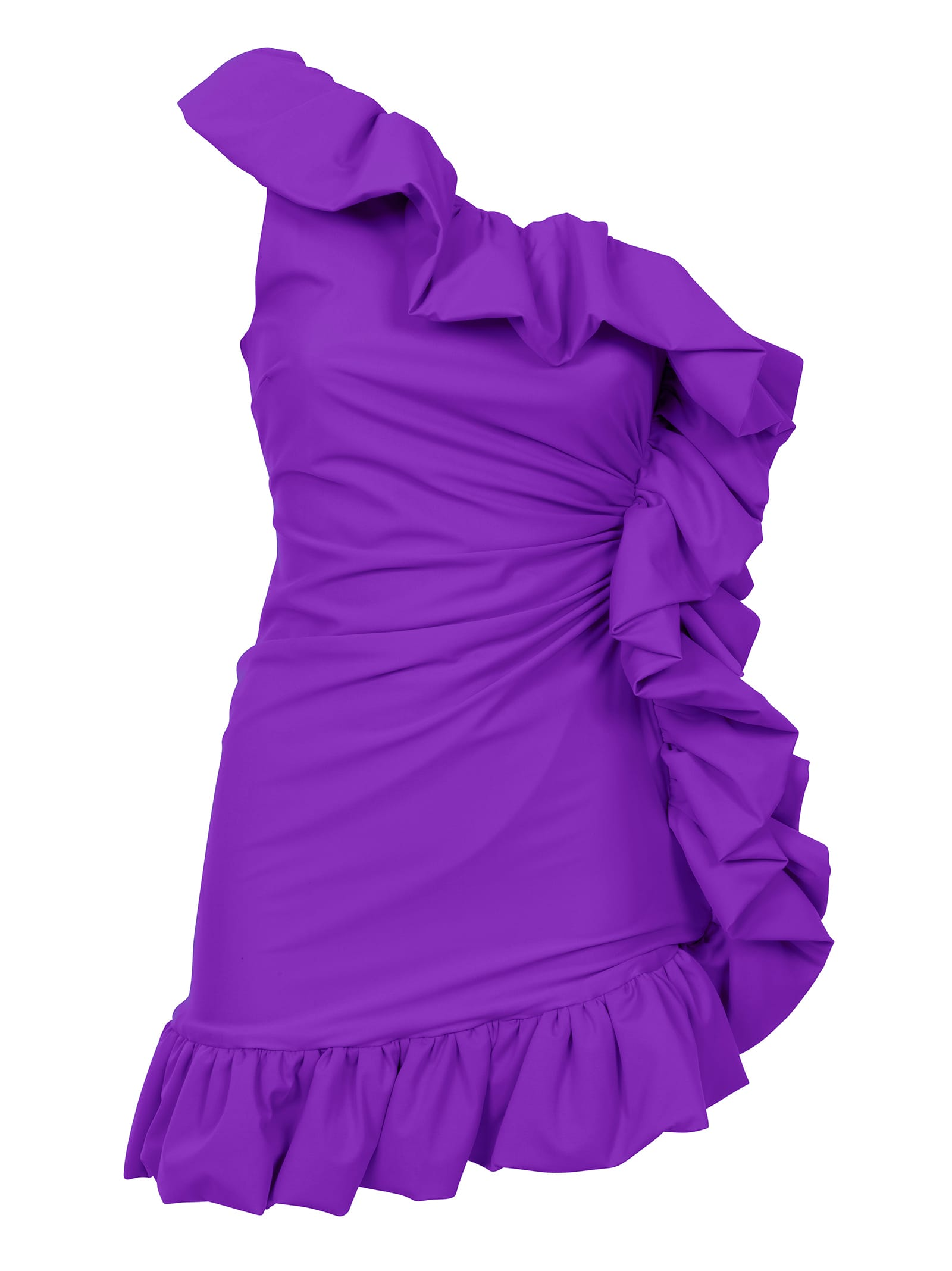 Buy Amen One-shoulder Ruffled Mini Dress online, shop Amen with free shipping