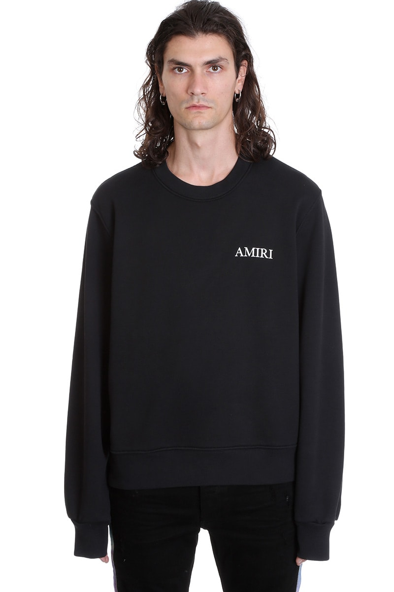 Amiri LOG SWEATSHIRT IN BLACK COTTON
