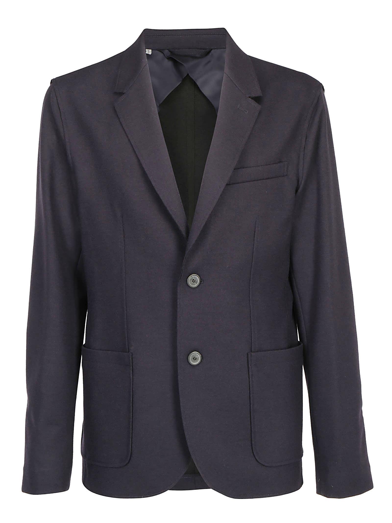 Lanvin Jersey Jacketr In Navy Blue