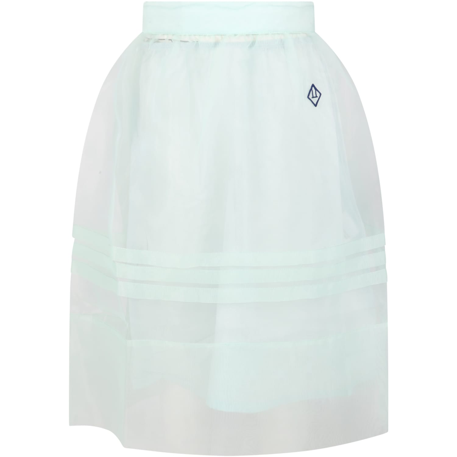 The Animals Observatory AQUAGREEN SKIRT FOR GIRL WITH LOGO
