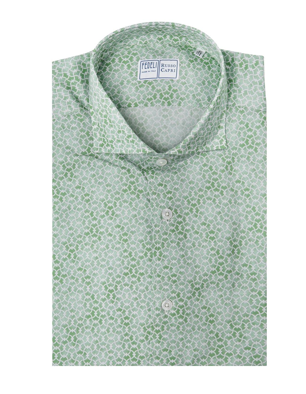 Light Green Shirt With Arabesque