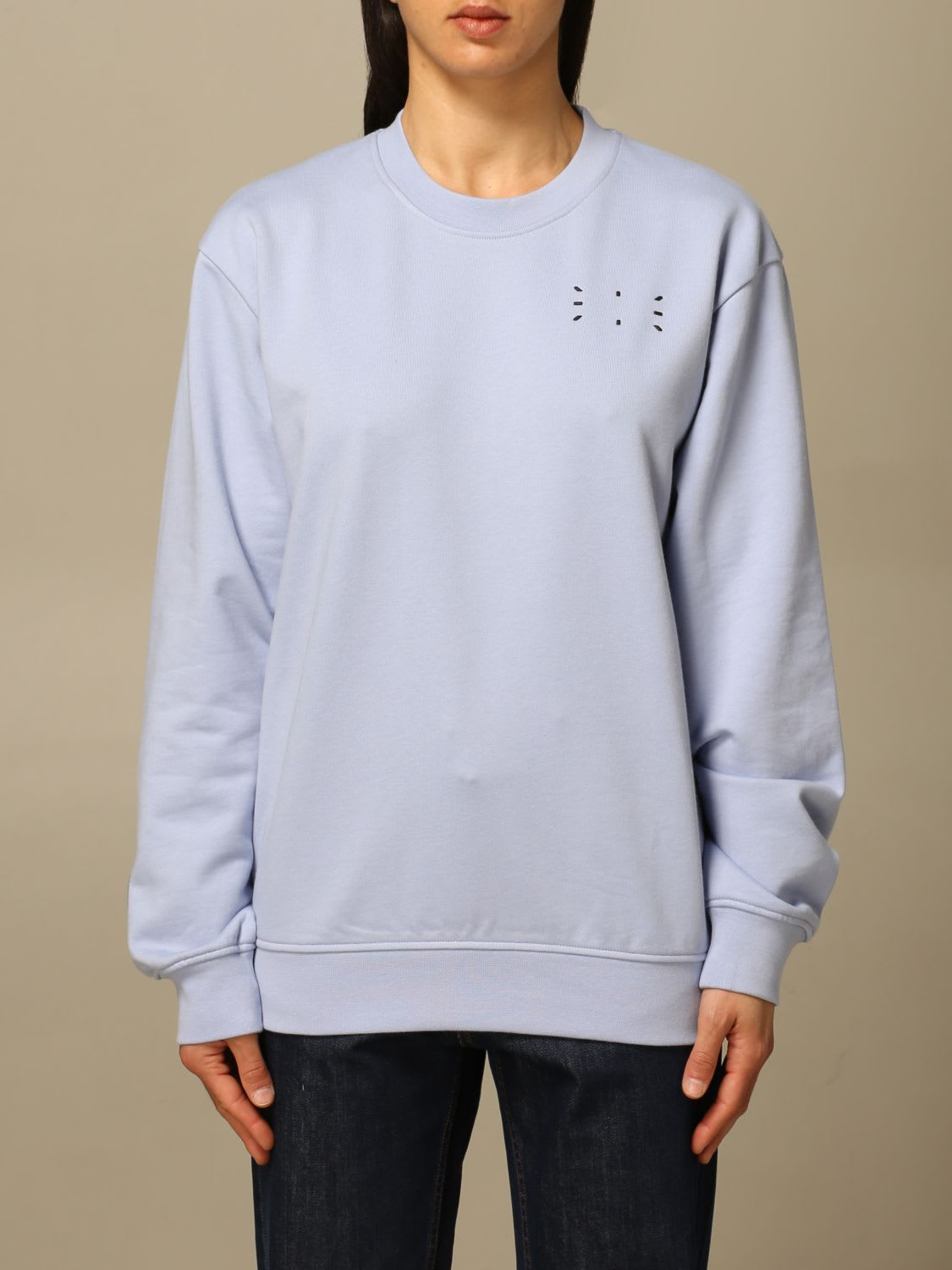Mcq By Alexander Mcqueen MCQ SWEATER IC-0 BY MCQ CREWNECK SWEATSHIRT IN COTTON WITH LOGO