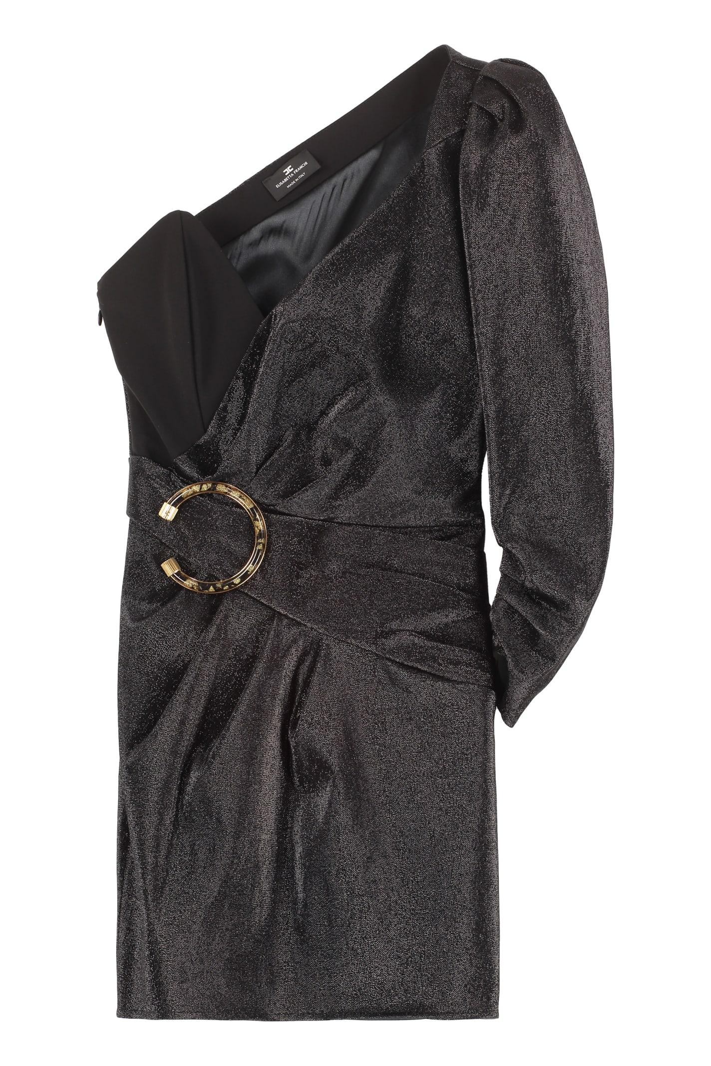 Elisabetta Franchi Celyn B. Lamé Jersey One-shoulder Dress