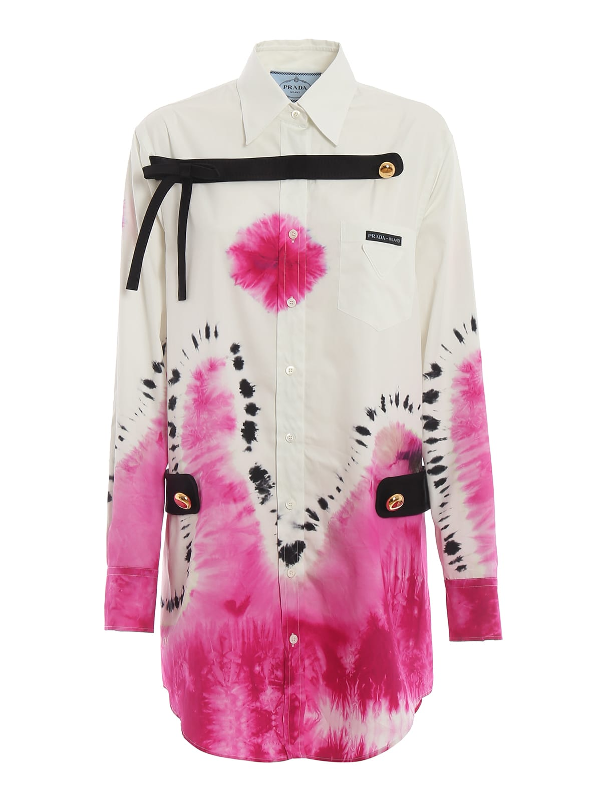 Prada Tie-dye Print Shirt Dress