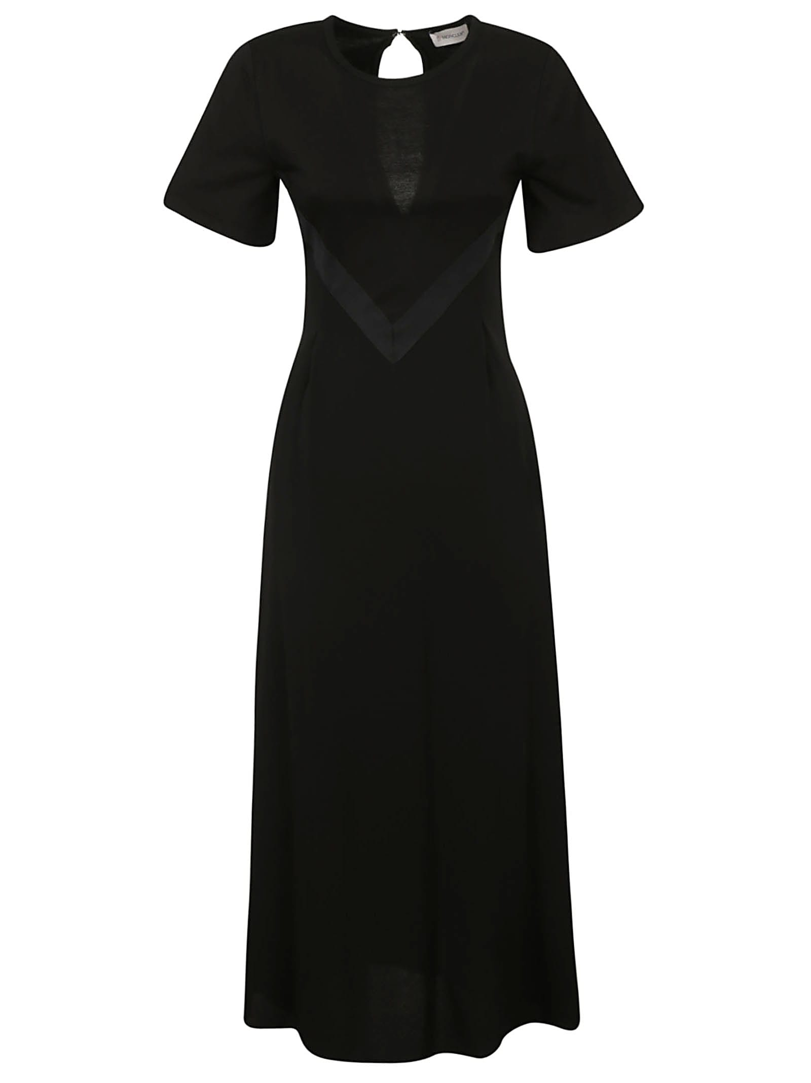 Buy Moncler Back Keyhole Maxi Dress online, shop Moncler with free shipping